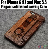 Чехол деревянный дизайнерский на Iphone 6/6plus