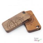 Чехол деревянный компас на Iphone 5/5s