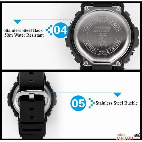 Мужские электронные часы Skmei 1010