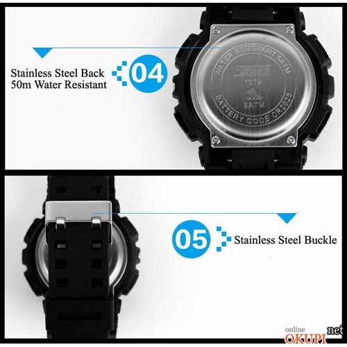 Мужские электронные часы Skmei 1012