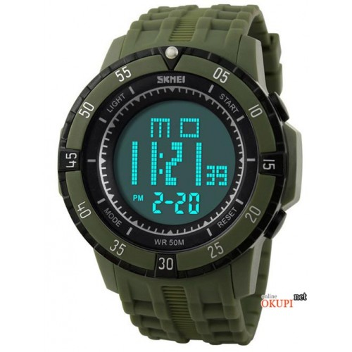 Мужские военные электронные часы Skmei 1089