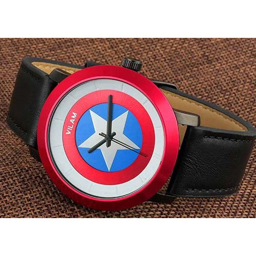Мужские часы щит Капитана Америки v2063g