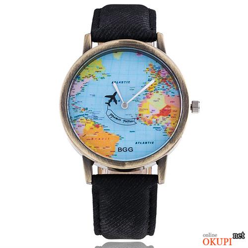 Мужские часы BGG sb1064 с картой мира