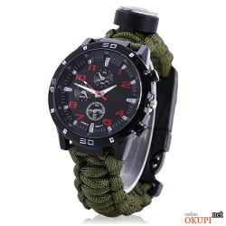 Мужские часы для выживания с паракордом и компасом