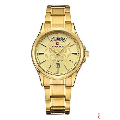 Мужские часы Naviforce NF 2045 золотые