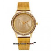 Женские золотые часы Michael Kors стразы