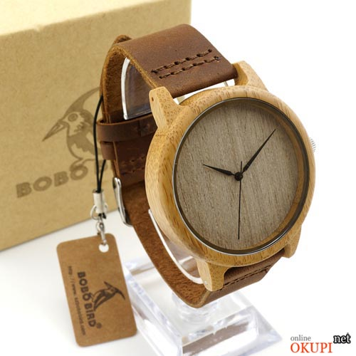 Деревянные часы BoBo Bird D01