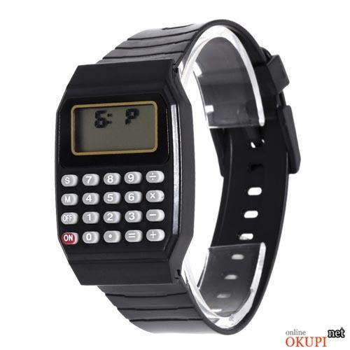 Детские электронные наручные часы Калькулятор