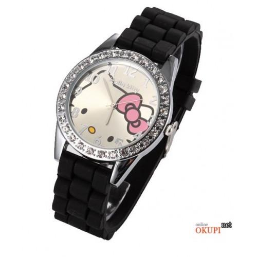 Детские кварцевые часы Hello Kitty с бантиком для девочки