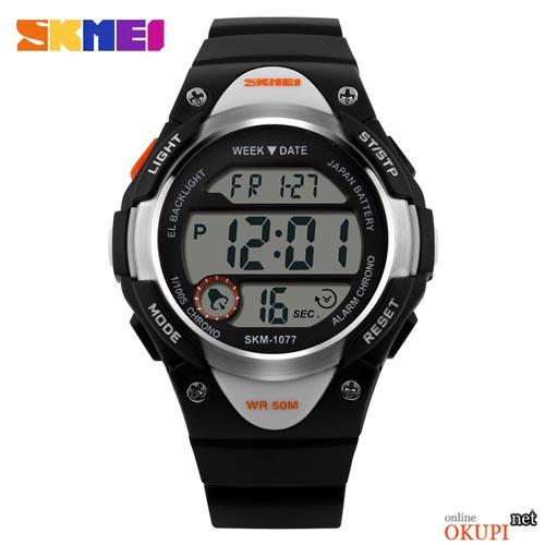 Детские электронные наручные часы Skmei 1077