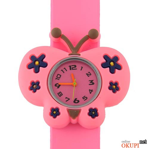 Детские кварцевые часы Бабочка для девочки