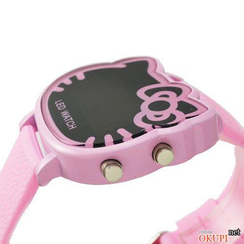 Детские led часы для девочки Hello Kitty