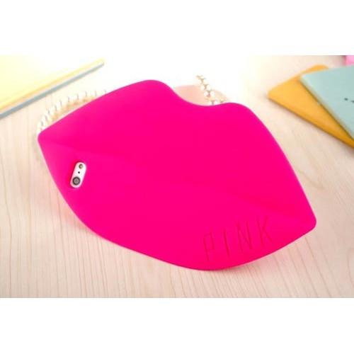 Чехол розовые губы на Iphone 6 plus
