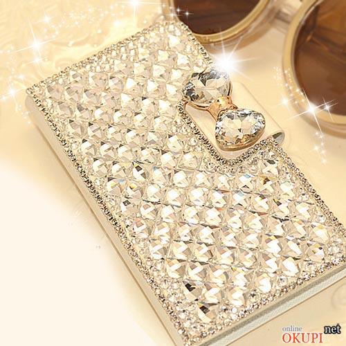 Чехол книжка бриллианты стразы на Iphone 6 plus