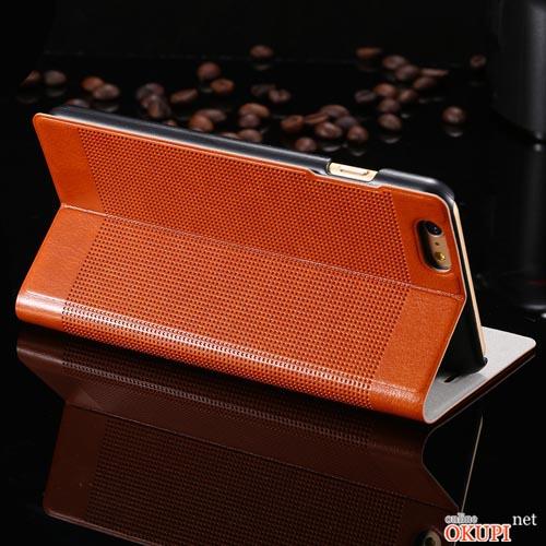 Чехол кожаный флип на Iphone 6 plus