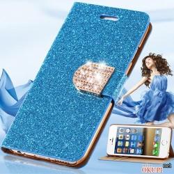 Чехол книжка блестящий на Iphone 6 plus