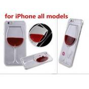 Чехол бокал вина жидкость Iphone 6/6s