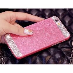 Чехол розовый стразы Iphone 5/5s