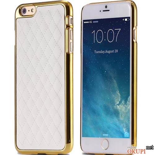 Чехол бампер с кожей Iphone 6/6s