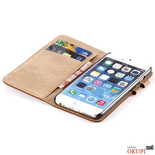 Чехол книжка на кнопке Iphone 6/6s PLUS