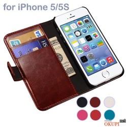 Чехол книжка на заклепке Iphone 5/5s