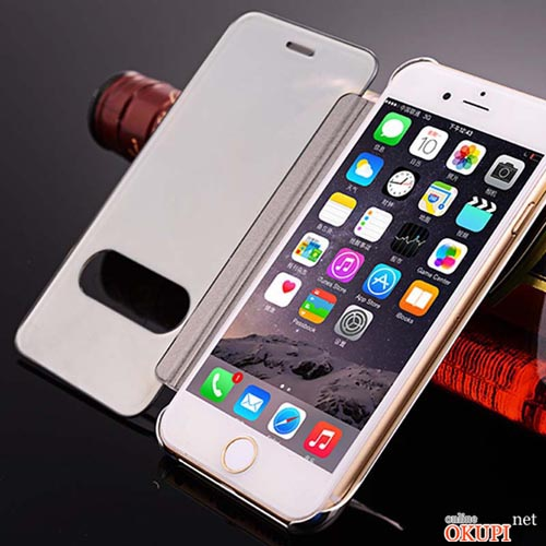 Чехол флип прозрачное зеркало на Iphone 6/6s