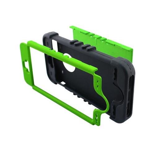 Чехол зеленый противоударный гибрид на Iphone 5/5s