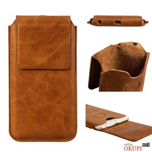 Чехол Jisoncase кожаный карман на Iphone 6/6s