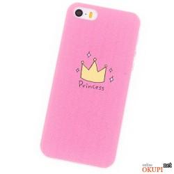 Чехол розовый Princess для Айфон 6/6s