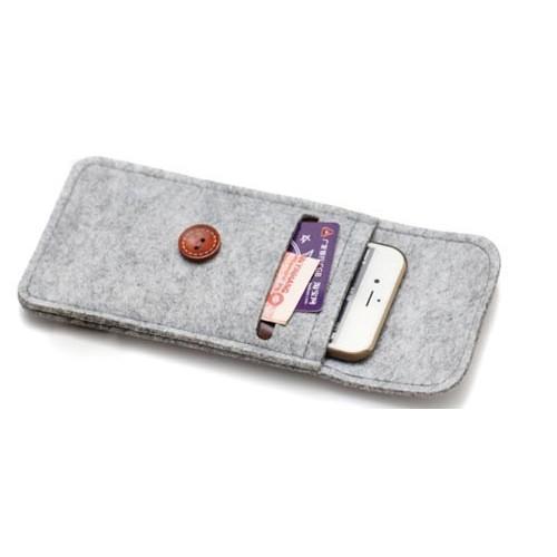 Чехол серый фетр на Iphone 6 plus