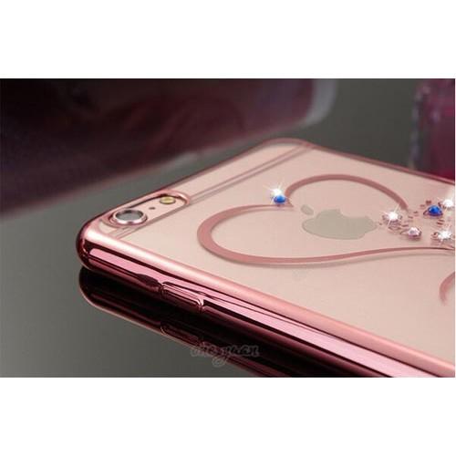 Чехол сердце со стразами на Iphone 6/6s