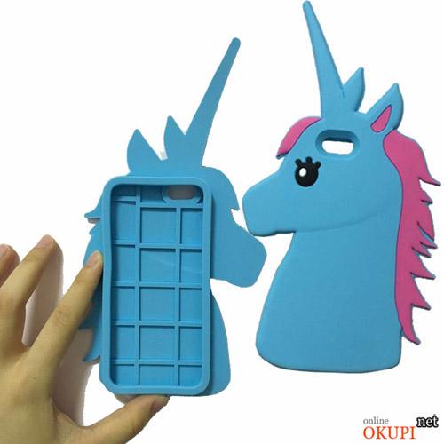 Чехол 3D Единорог на Iphone 6/6s PLUS