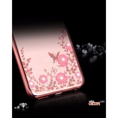 Чехол чехол с розовыми стразами на Iphone 7/8