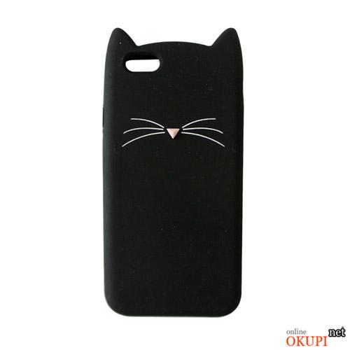 Чехол черный котик на Iphone 7/8 PLUS