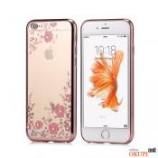 Чехол розовый со стразами на Iphone 7/8 PLUS
