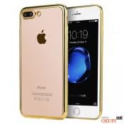 Чехол силиконовый золото на Iphone 7/8;