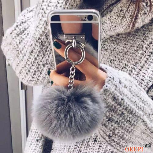Чехол зеркальный с мехом на Iphone 7/8