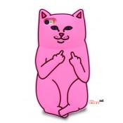 Чехол розовый кот на Iphone 7/8