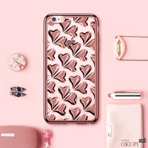 Чехол маленькие сердечки на Iphone 6/6s plus