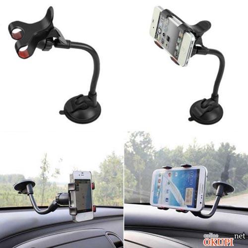 Универсальный автомобильный держатель для телефона на присоске