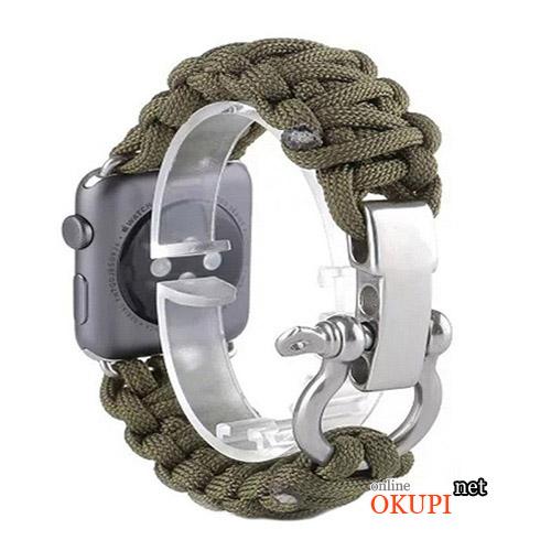 Военный ремешок паракорд для Apple Watch 38 и 42 мм