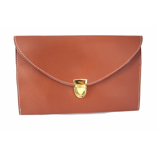 Женский клатч конверт (рыжий)