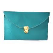 Женский клатч конверт (бирюзовый)