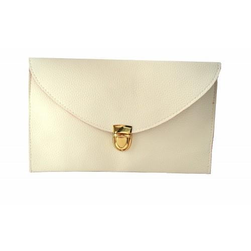 Женский клатч конверт (бежевый)