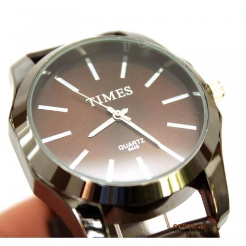 Мужские стильные часы Times Brown