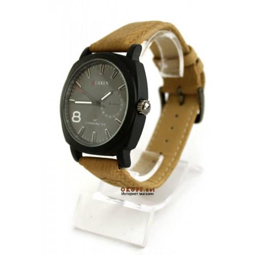 Мужские кварцевые часы Curren Chronometr GMT 8139