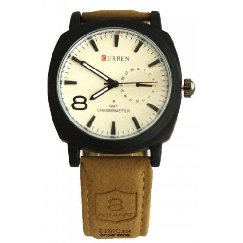 Мужские кварцевые часы Куррен Хронометр Гмт 8139