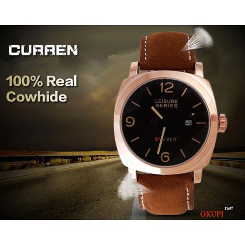 Мужские часы Curren Leisure Series GOLD 8158