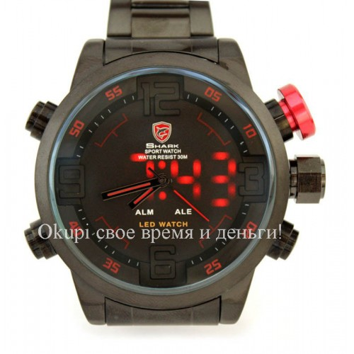 Мужские часы Shark Army Sport Watch LED