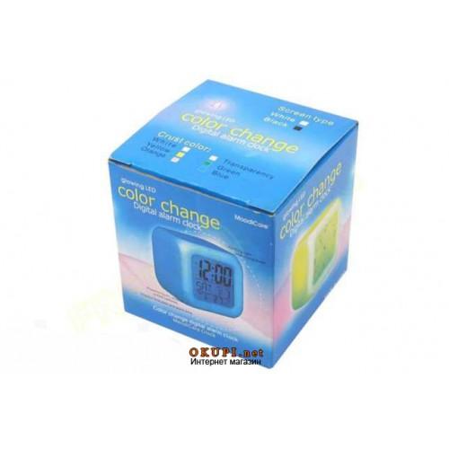 Часы хамелеон с термометром